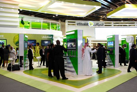 Etisalat booth arabianbusiness