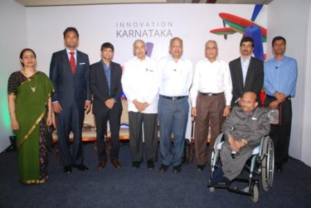 Lalitesh Katragadda, Country Head India Product, Google India and Prof. HP Kincha, Chairman KSInC With Karnataka Innovators
