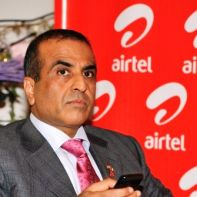 Sunil Mittal with phone