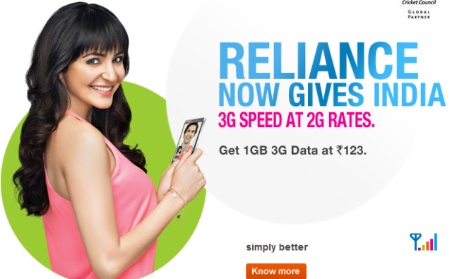 Reliance to bet on 3G data