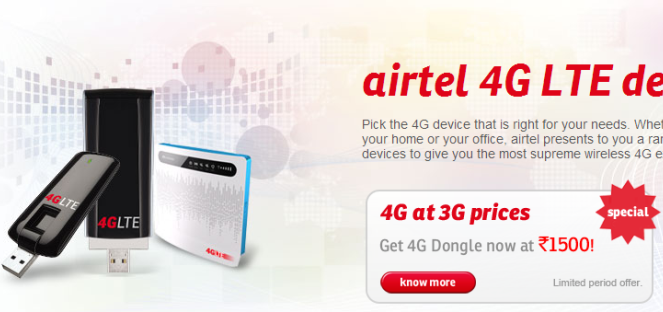 Airtel 4G user base