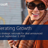 accelerating Microsoft growth