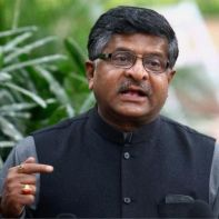 Telecom and IT minister Ravi Shankar Prasad