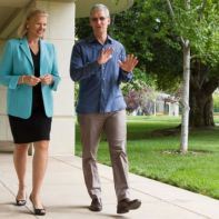 CEOs of IBM and Apple