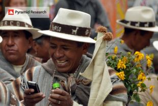 mobile user in Bolivia telecom market