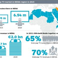 Pay TV revenues in Middle East