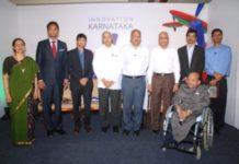 Lalitesh Katragadda, Country Head India Product, Google India and Prof. HP Kincha, Chairman KSInC With Karnataka Innovators