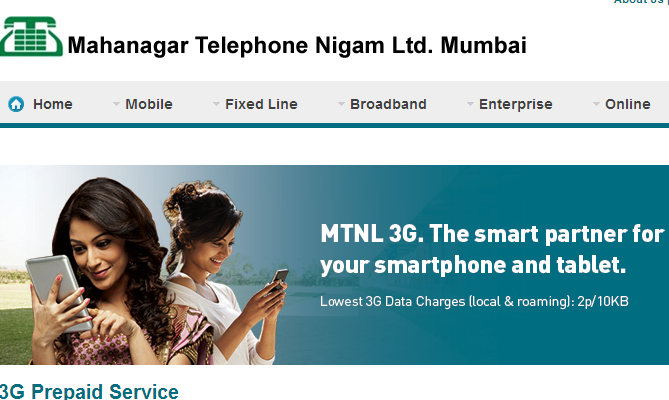 3G speed of MTNL