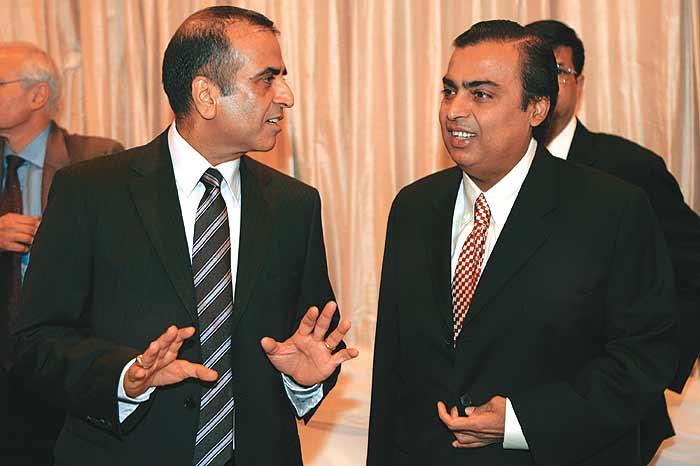 Sunil Mittal and Mukesh Ambani