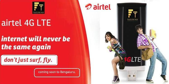 Airtel Launching 4G services in Bangalore on May 7