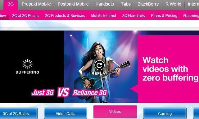 Reliance Communcations 3G plans