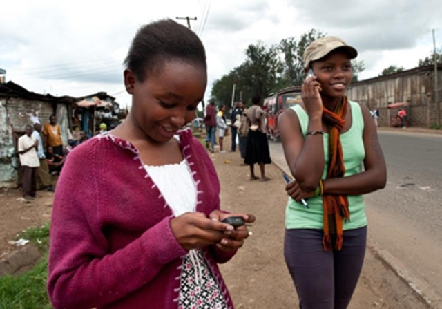 Mobile user in Africa