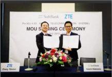 ZTE, SoftBank MoU on 5G