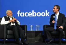 Narendra Modi and Facebook CEO Mark Zuckerberg in San Jose, California