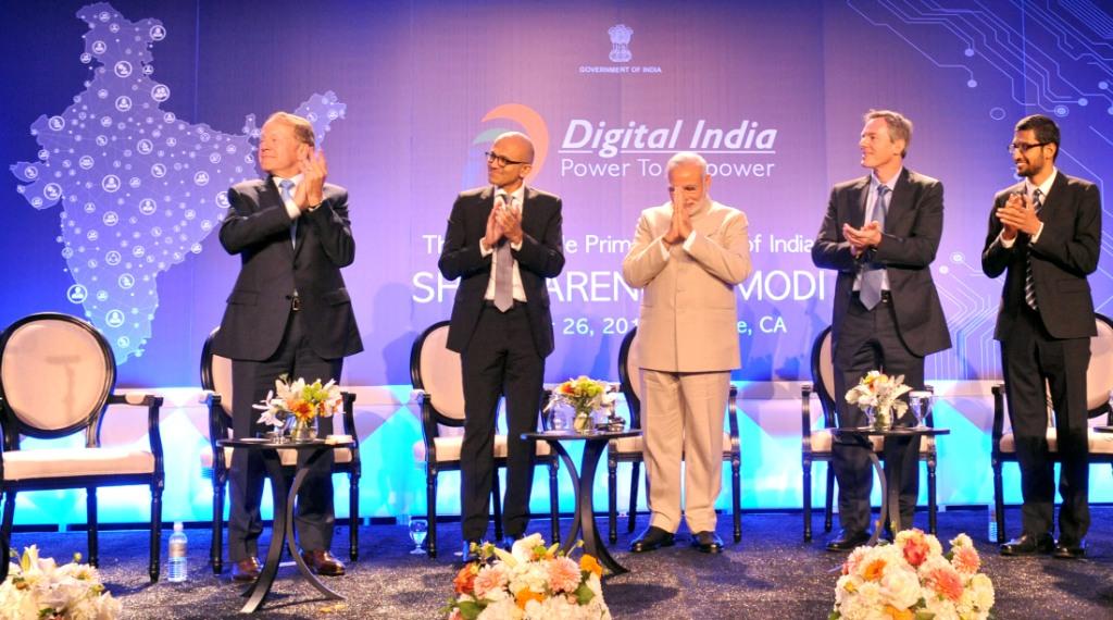 PM Modi with tech CEOs