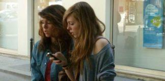 Smartphone user in France