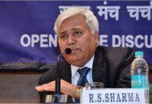 TRAI Chairman RS Sharma in India
