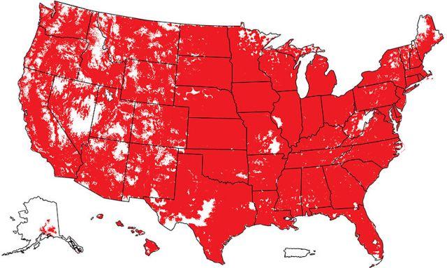 Verizon Wireless LTE coverage