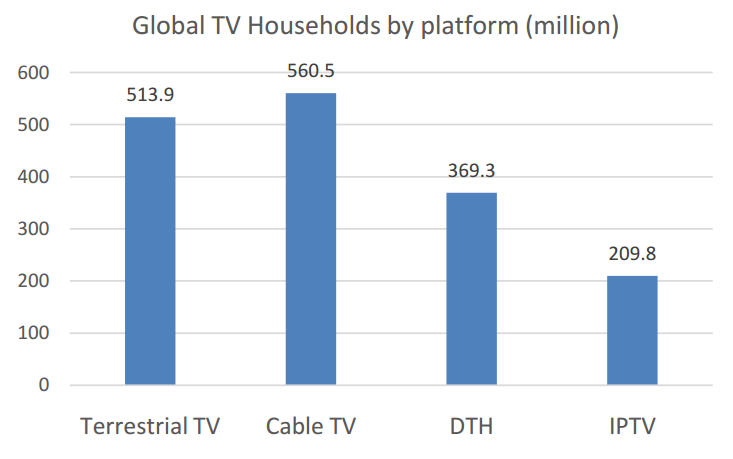 Global TV Households by platform