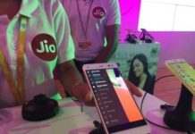 Jio network display