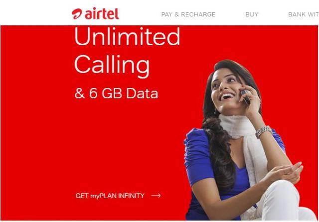 Bharti Airtel 4G data