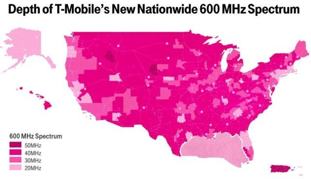 T-Mobile 600 MHz spectrum