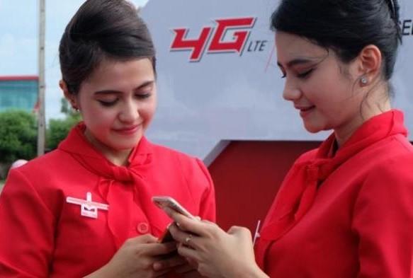 Telkomsel 4G network campaign