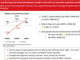 China Unicom transformation 2017