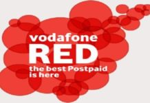Vodafone RED postpaid plan