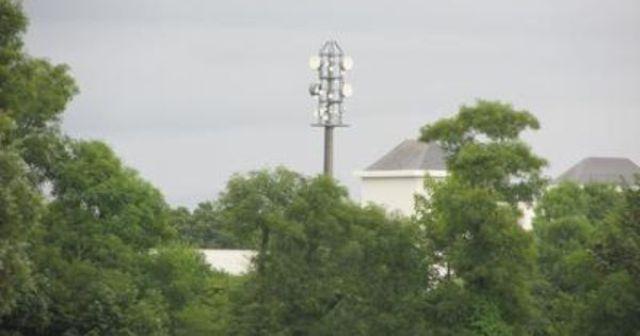 Green telecom tower in Ireland