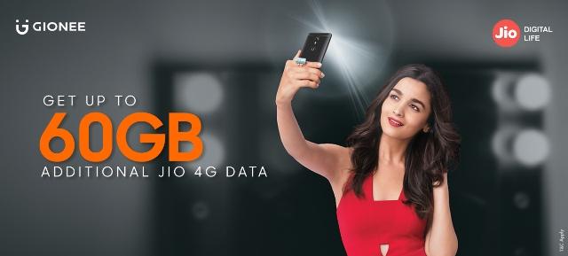 Gionee with Jio 4G