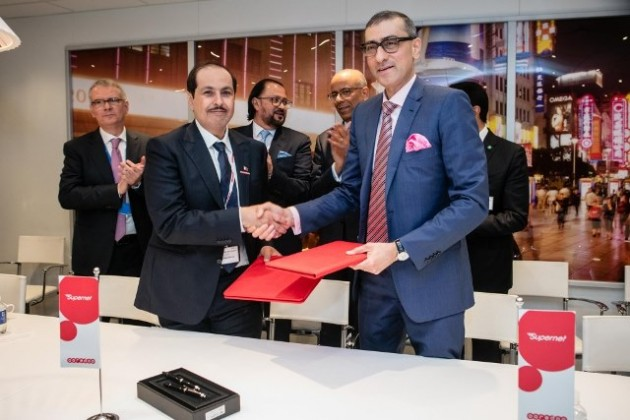 Ooredoo and Nokia CEOs after 5G deal