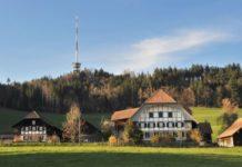 Swisscom tower in Switzerland