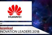 Huawei TelecomLead Innovation Leaders 2018 Award