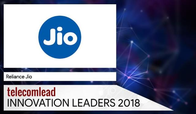Reliance Jio TelecomLead Innovation Leaders 2018 Award