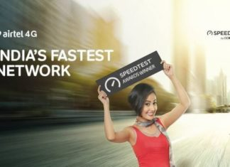Airtel India's fastest network