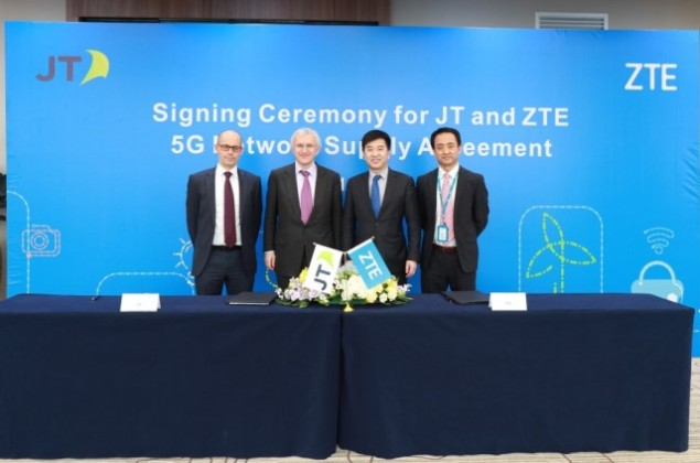 ZTE team with JT Global