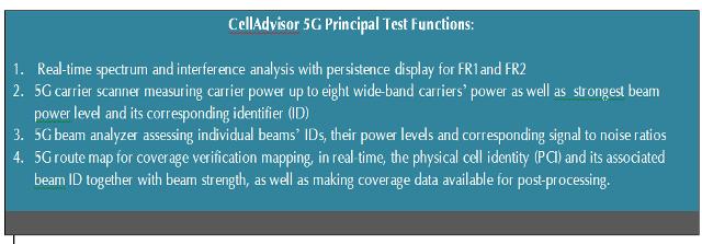 cellAdvisor test functions