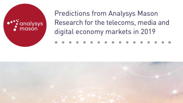 Analysys Mason predictions 2019