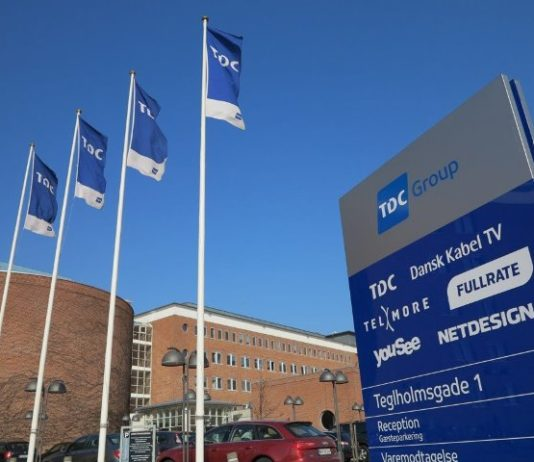 TDC mobile services in Denmark
