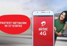 Airtel 4G network in 27 states