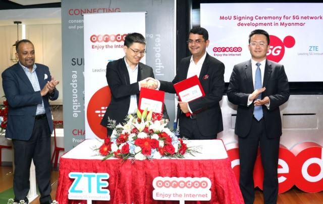 Ooredoo Myanmar 5G and ZTE