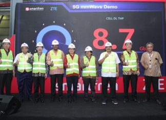 ZTE and Smartfren 5G demo in Indonesia