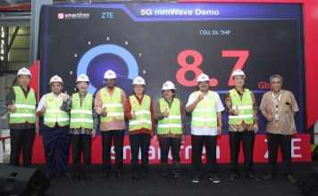 ZTE and Smartfren 5G demo in Indonesia