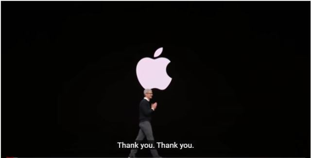 Tim Cook at Apple event in March 2019