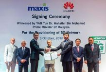 Maxis 5G network deal with Huawei