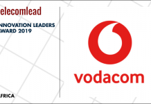 Vodacom winners of TelecomLead.com Innovation Leaders 2019 award