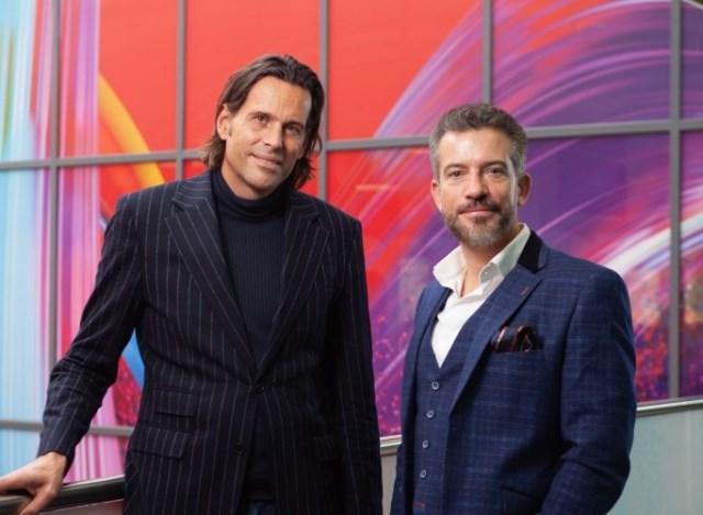 Virgin Media CEO Lutz Schüler and Vodafone UK CEO Nick Jeffery