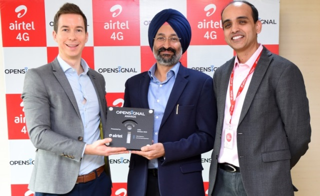 Airtel 4G receives Opensignal award