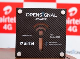 Opensignal Award to Airtel 4G